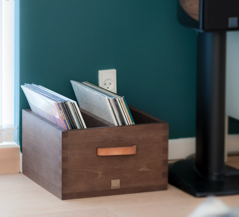 Record Crate | Solid Oak
