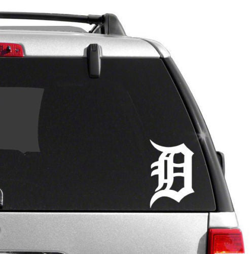 "Detroit Tigers Old Englisg D Vinyl Car Truck Window Decal Sticker 6"" WHITE"