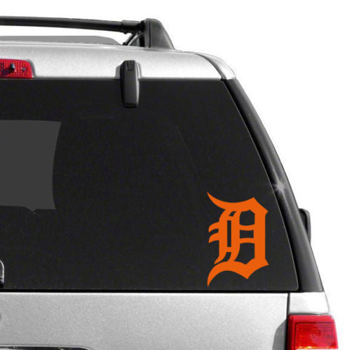 "Copy of Detroit Tigers Old Englisg D Vinyl Car Truck Window Decal Sticker 6"" ORANGE"