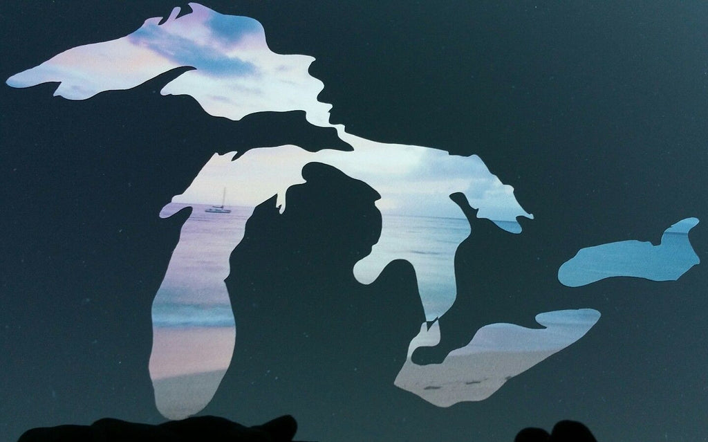 Scenic Michigan Great Lakes Vinyl Decal / STICKER