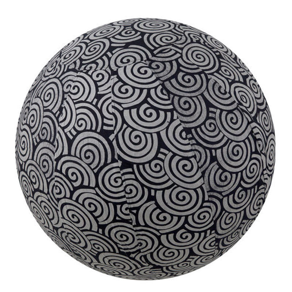 Yoga Ball Cover Size 55 Design Black Swirl - Global Groove (Y)