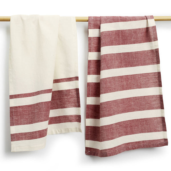 Wine Cotton Tea Towels Set of 2 - Sustainable Threads (L)
