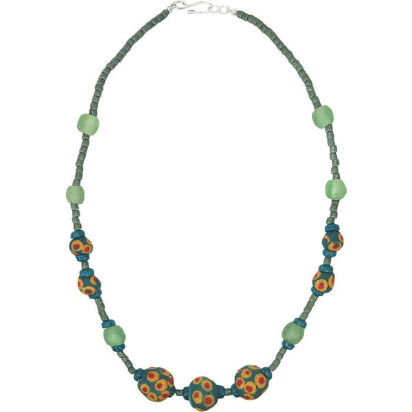 Grace Necklace in Moss - Global Mamas