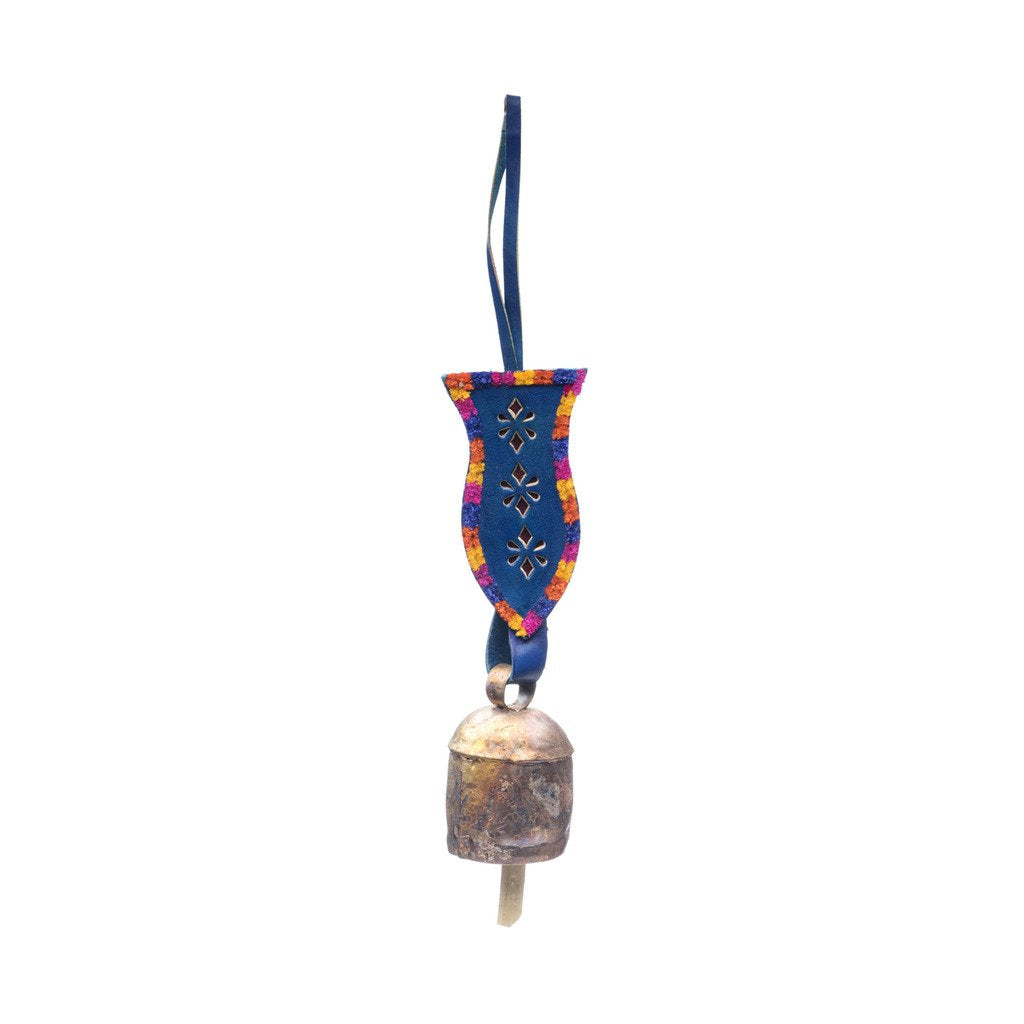 Embellished Leather Bell - Blue - Matr Boomie (Bell)