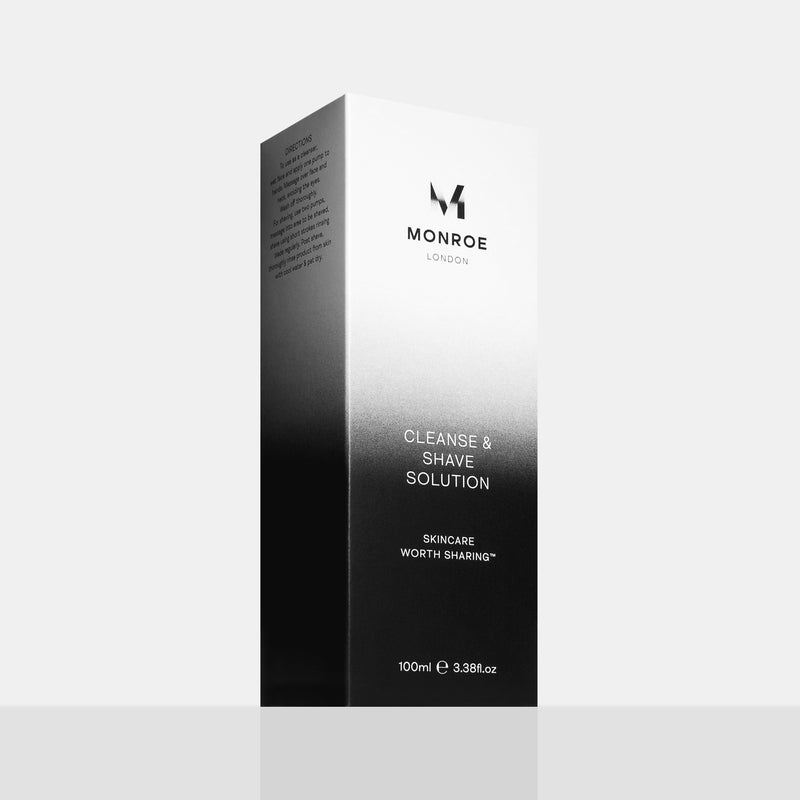 Monroe Cleanse & Shave Solution 100ml Carton