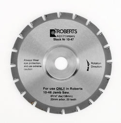 Roberts 10-47 20-Tooth Carbide Tip Saw Blade for 10-55 Jamb Saw, 6-3/16-Inch