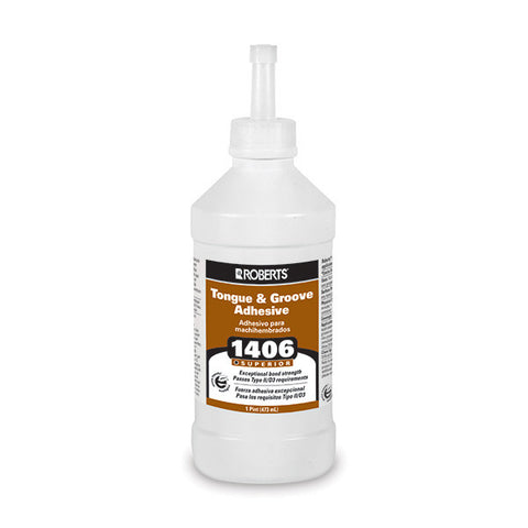 Roberts 1406 Tongue and Groove Adhesive For Laminate and Wood Floors - 1 Pint Bottle