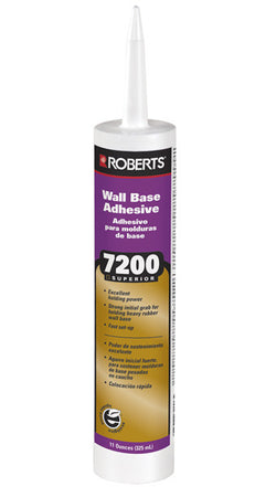 Roberts 7200 Wall Base Adhesive - 30oz. Cartridge