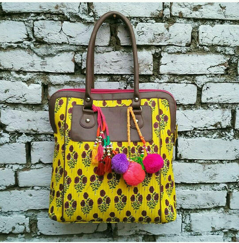 Floral Lemon Shouler Bag