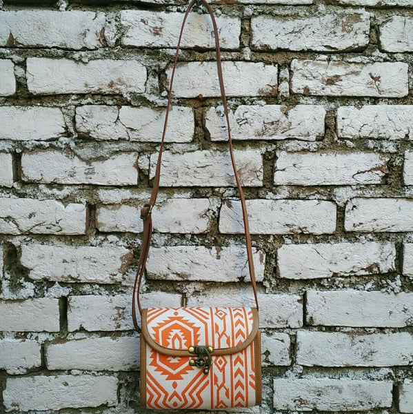 Orange & White Box Sling