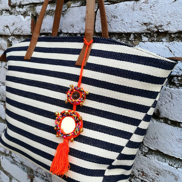 Dhurrie Stripy Tote
