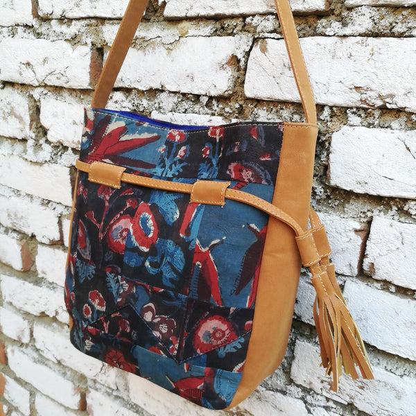 Kalamkari Broom Shoulder Bag