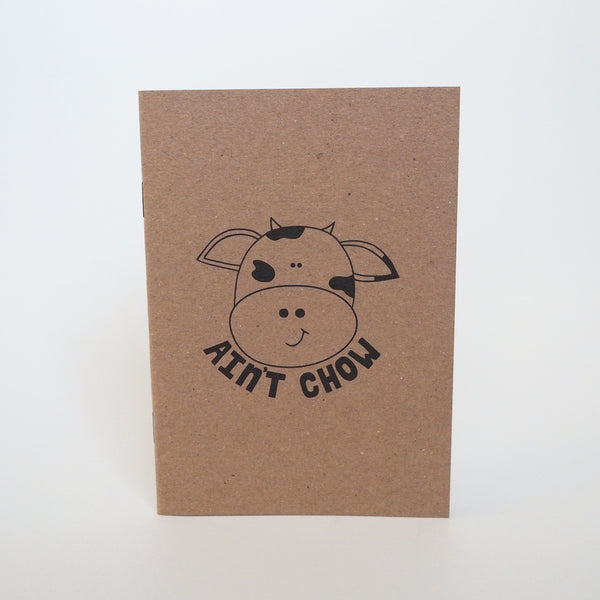 'Cow ain't chow' notebook