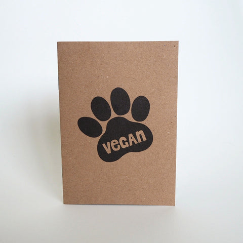 Vegan paw print notebook