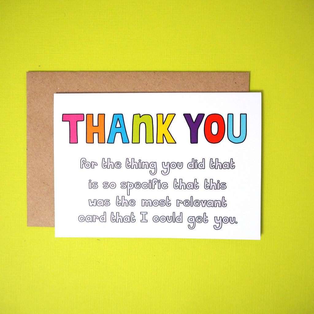 Thank you for the thing you did... greeting card - Girl Against the Clones