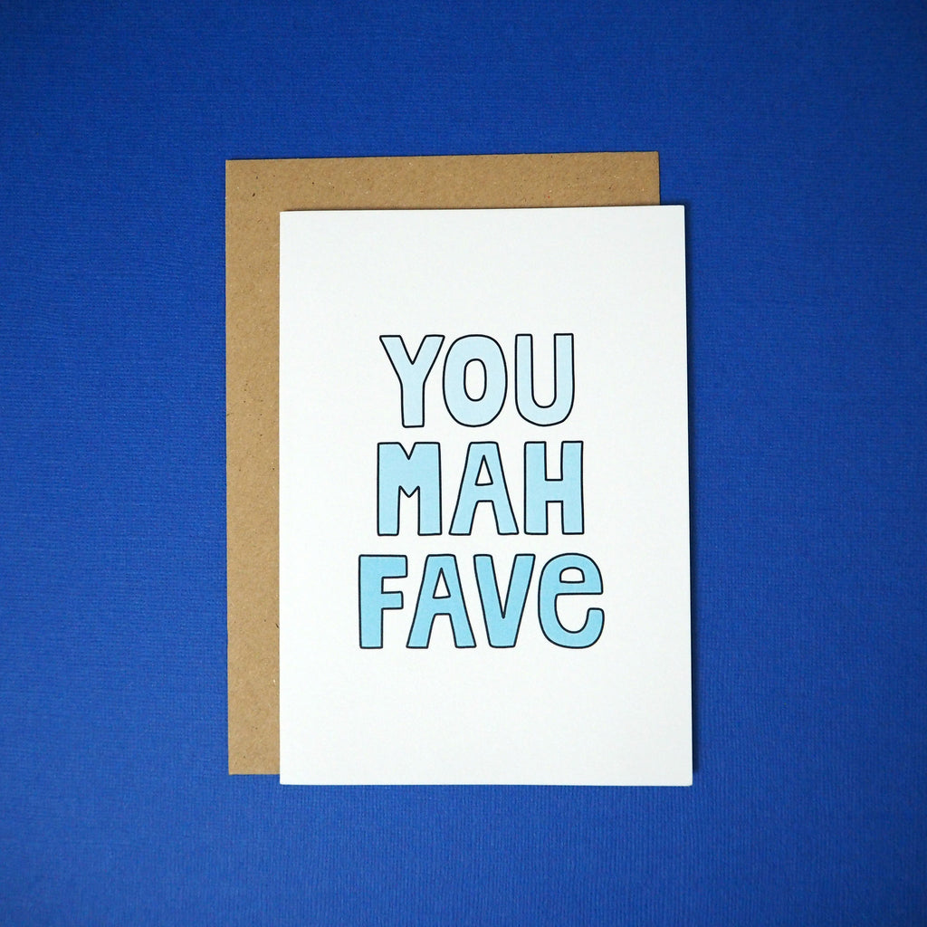 You mah fave greeting card - Girl Against the Clones