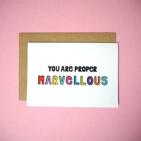You are proper marvellous greeting card - Girl Against the Clones