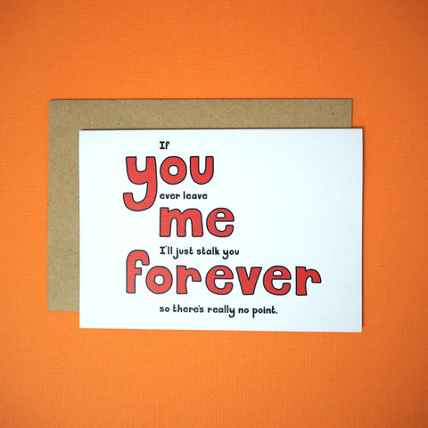 You me forever greeting card - Girl Against the Clones