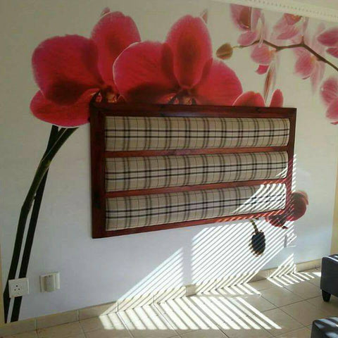 Horizontal Panel With Wooden Inserts & Frame