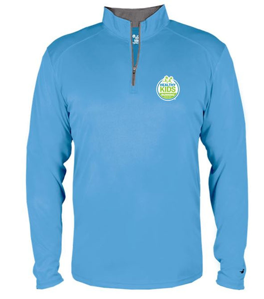 Youth Badger B-Core Quarter-Zip Pullover - Columbia Blue