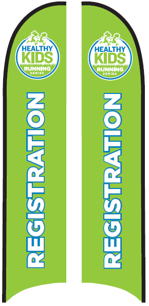 Registration Blade Flag - Large (16') with Ground Spike Base
