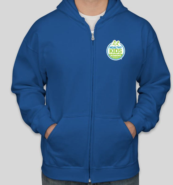 Gildan Midweight Full Zip Hoodie - Royal Blue