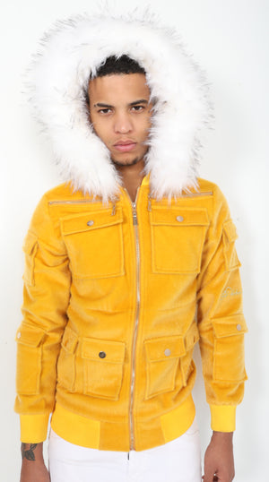 Mustard Sealfur Jacket