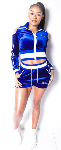 Women's Lined LON Blue Velvet Summer Full Set