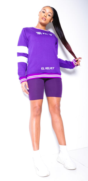 Women Purple Chi ELV Sweat Top