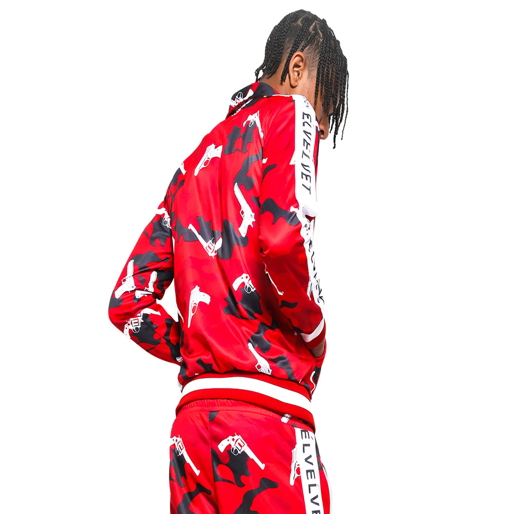 "M/RED STRAPPED Represent LONDON."" TRACKTOP"