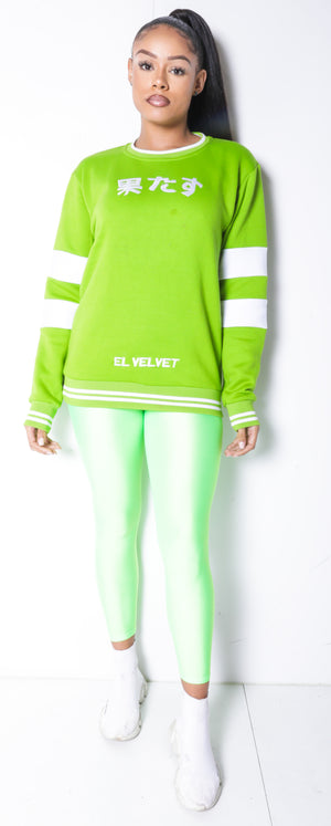 Women Lime Chi ELV Sweat Top