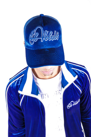 Royal Blue Velvet Lux Cap