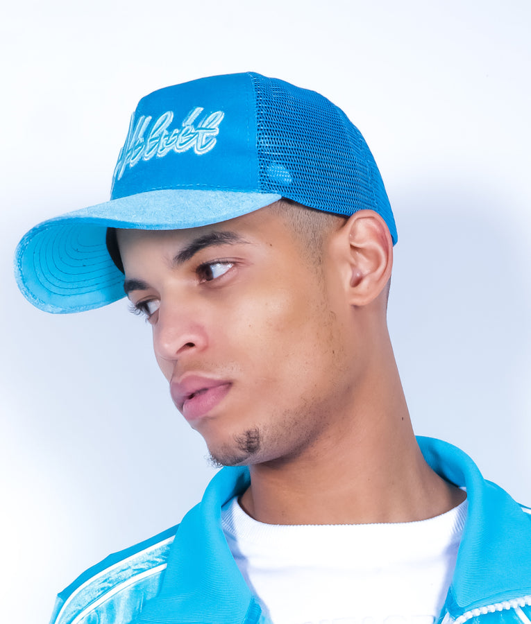 Blush Blue Velvet Lux Cap