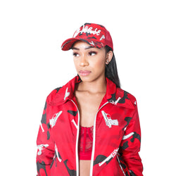 RED STRAPPED BASECAP