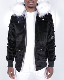 Black Sealfur Jacket