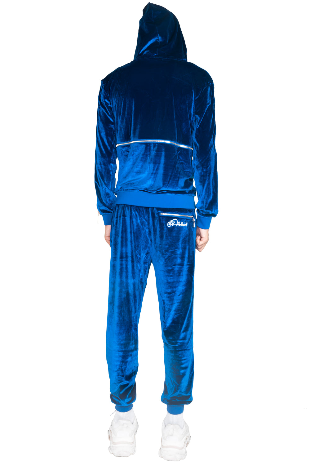 Men's Royal Blue Vélvét - Full Tracksuit