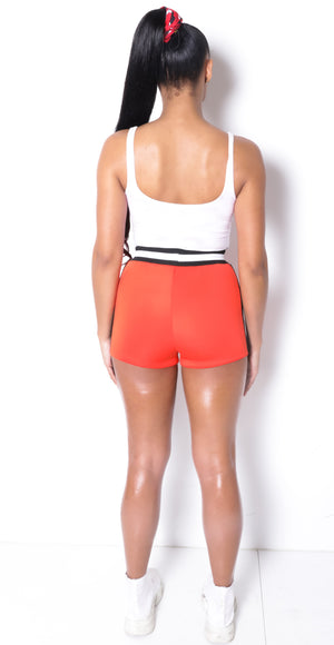 Women SP Tangerine Neoprene Shorts