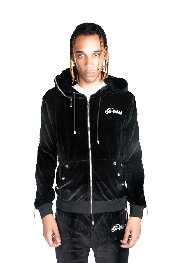 PRE-ORDER Men's Black Vélvét Full Tracksuit