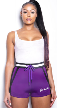 Women SP Purple Neoprene Shorts