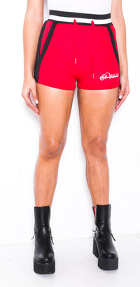 Women SP Red Neoprene Shorts