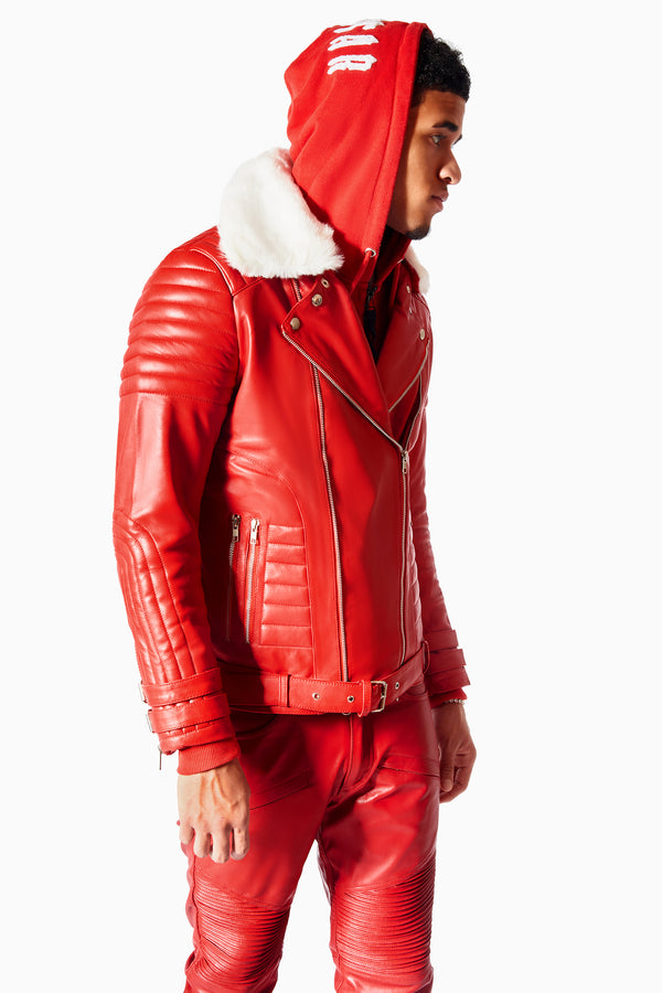 Red Coat of Skins Leather Jacket