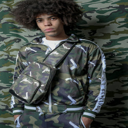 "M/GREEN STRAPPED Represent LONDON."" TRACKTOP"