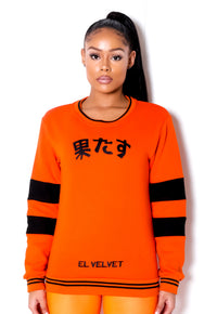 Women Orange Chi ELV Sweat Top