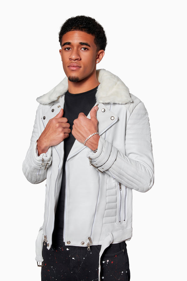 White Coat of Skins Leather Jacket