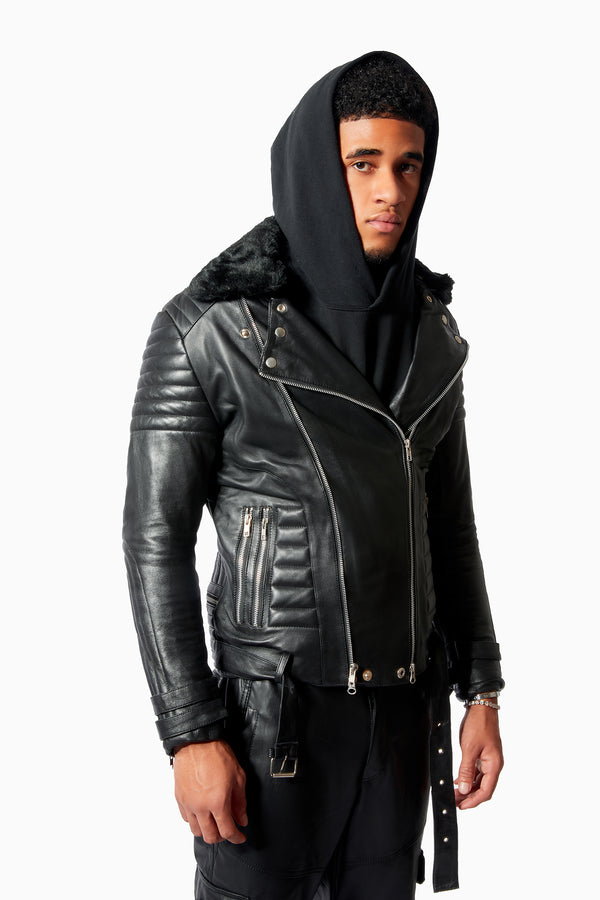 Black Coat of Skins Leather Jacket