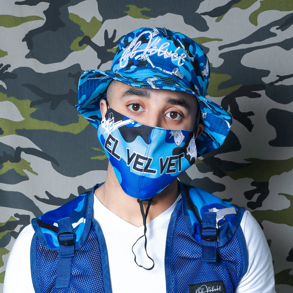 M/BLUE STRAPPED MASK