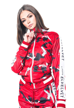 "W/RED STRAPPED Represent LONDON."" TRACKTOP"