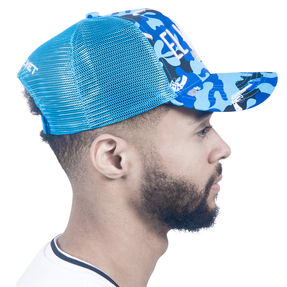 M/BLUE STRAPPED BASECAP