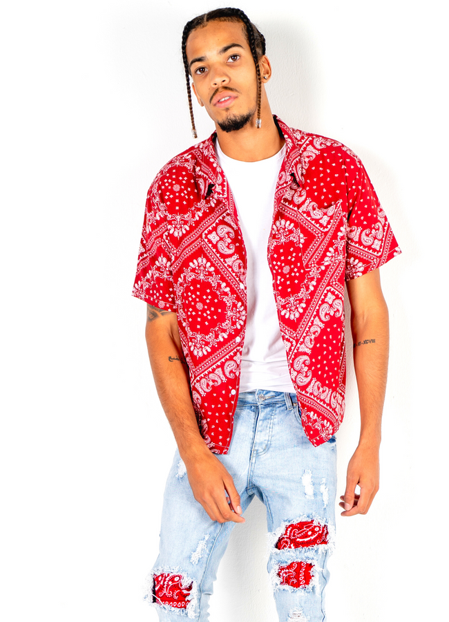 ABEL Red Bandana Shirt