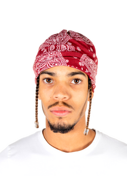 ABEL Red Bandana Hat